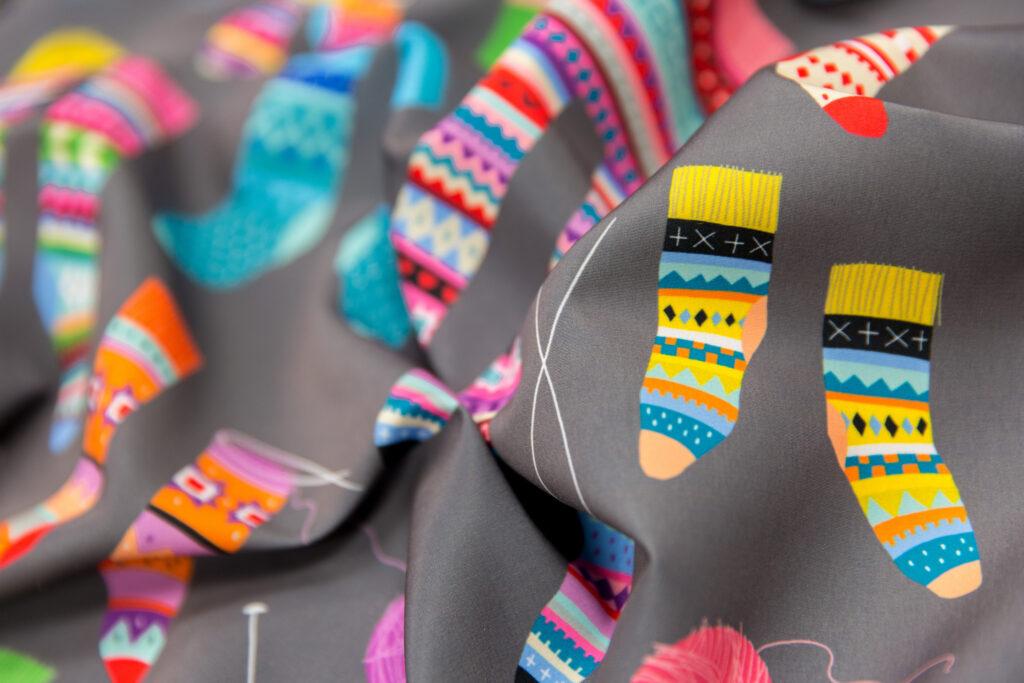 Fancy Fair Isle Feet by cerigwen is the Fair Isle Design Challenge Winner! | Spoonflower Blog