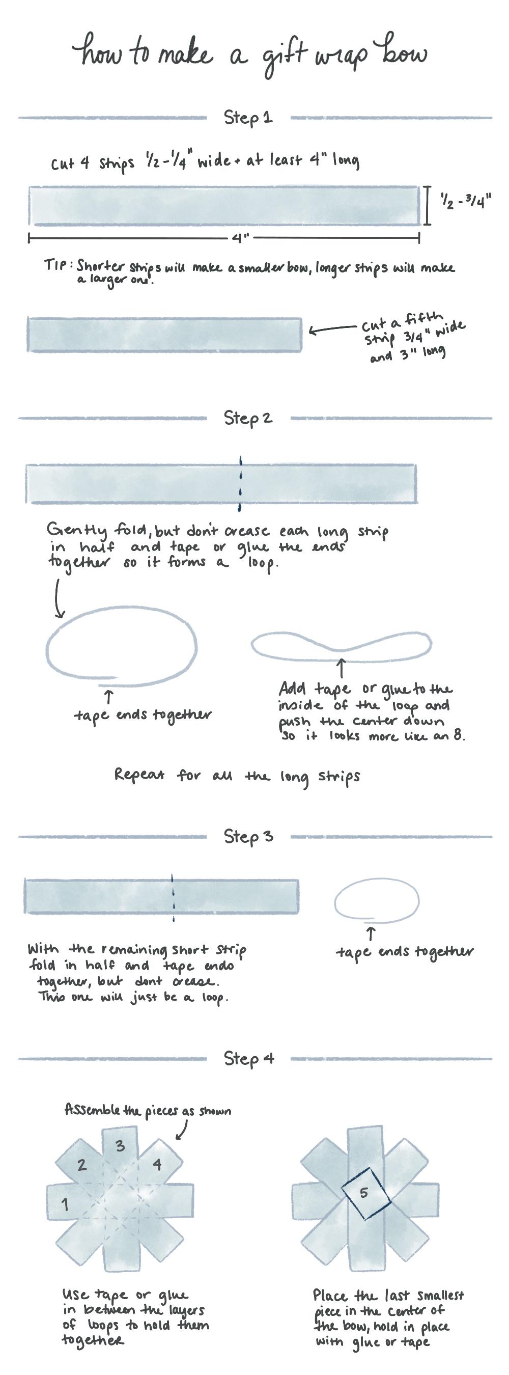 DIY Gift Wrap Bow | Spoonflower Blog