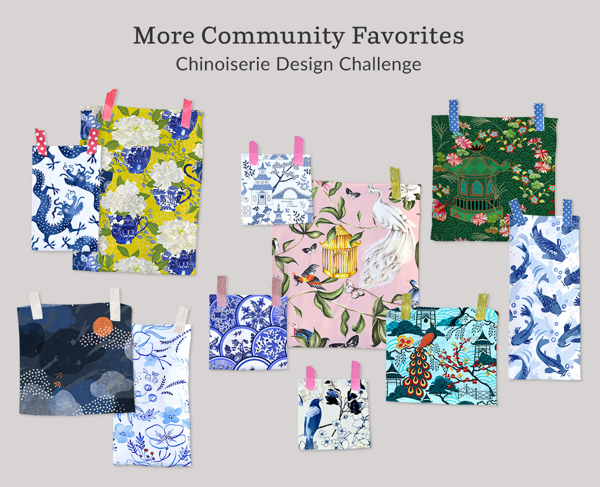 Announcing the Chinoiserie Design Challenge winners | Spoonflower Blog