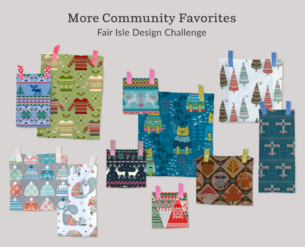 Announcing the Fair Isle Design Challenge Winners | Spoonflower Blog