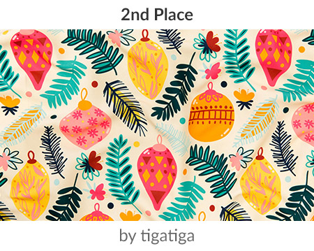 Colorful Christmas by tigatiga is the Holidays Around the World Design Challenge 2nd place winner! | Spoonflower Blog