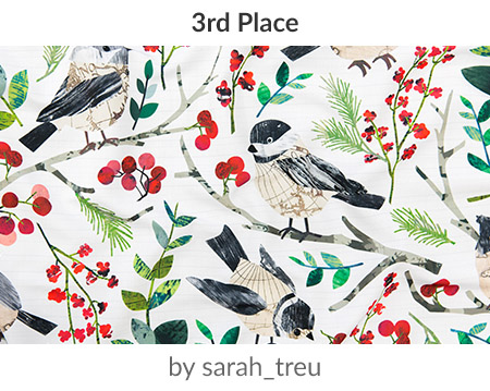 World Map Birds by sarah_treu is the Holidays Around the World Design Challenge 2nd place winner! | Spoonflower Blog