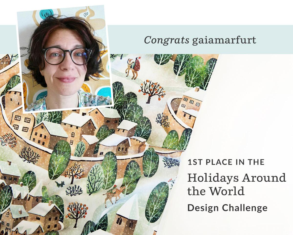 Presepe 2018 by gaiamarfurt is the Holidays Around the World Design Challenge winner! | Spoonflower Blog