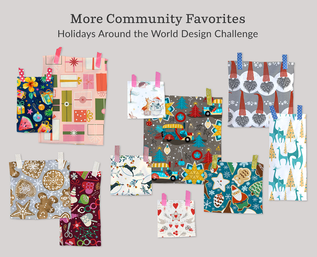 Shop the top designs in the Holidays Around the World Design Challenge | Spoonflower Blog