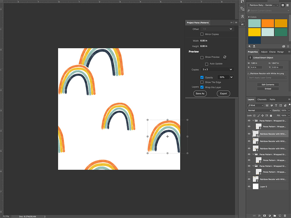 How to Create a Seamless Repeat with Project Paras  Spoonflower Blog