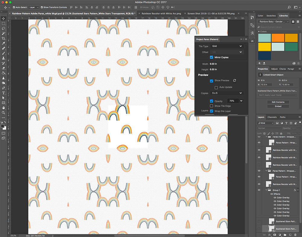 How to Create a Seamless Repeat with Project Paras | Spoonflower Blog
