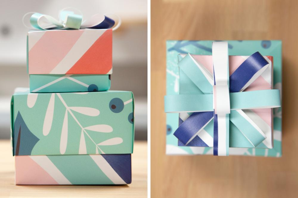 DIY-Geschenkbox aus Geschenkpapier