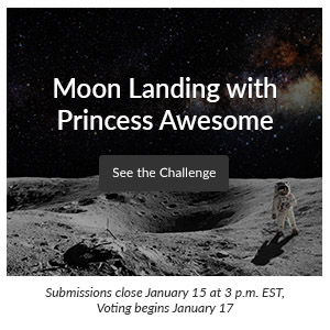 Moon Landing with Princess Awesome | Spoonflower Blog