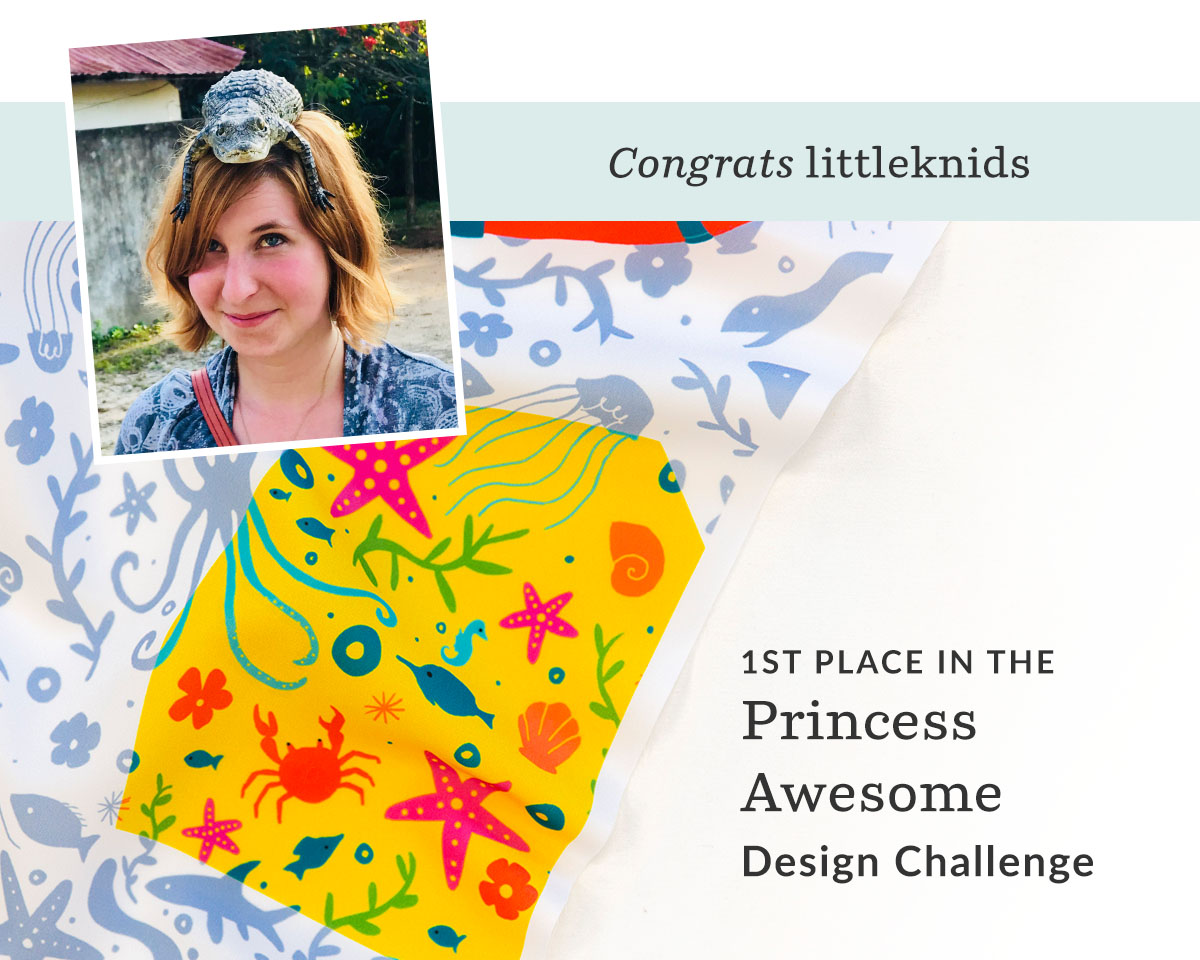 Princess Awesome Design Challenge winner | Spoonflower Blog