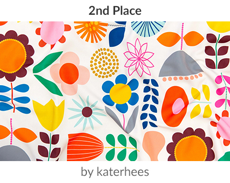 Mod Scandinavian Garden is a winner in our Scandinavian Art Design Challenge! | Spoonflower Blog