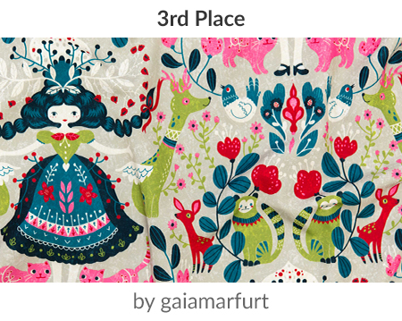 scandinavian-girl by gaiamarfurt is a winner in our Scandinavian Art Design Challenge! | Spoonflower Blog