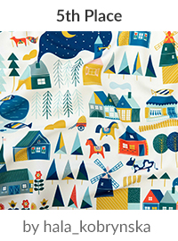 Scandinavian dream by hala_kobrynska is a winner in our Scandinavian Art Design Challenge! | Spoonflower Blog