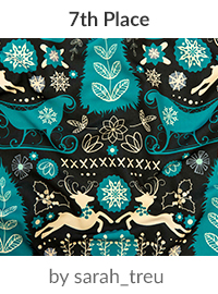 Scandinavian Snowy Winter Christmas by sarah_treu is a winner in our Scandinavian Art Design Challenge! | Spoonflower Blog