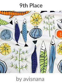 Scandinavian nature art by avisnana is a winner in our Scandinavian Art Design Challenge! | Spoonflower Blog