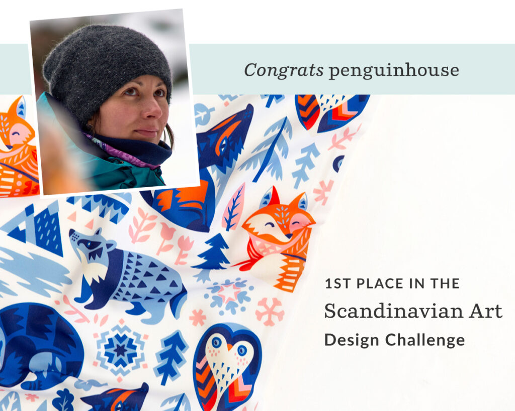 Winter Dreams by penguinhouse is 1st place in the Scandinavian Art Design Challenge | Spoonflower Blog