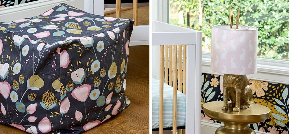 DIY Ottoman and Lampshade | Spoonflower Blog