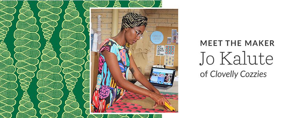 Meet the Maker | Jo Kalute of Clovelly Cozzies | Spoonflower Blog