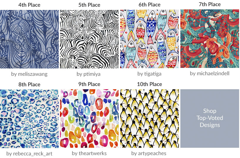 Announcing the Animal Prints Design Challenge Winners | Spoonflower Blog