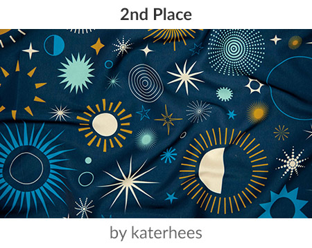 Age of Aquarius by katerhees is a winner in our Astrology Design Challenge! | Spoonflower Blog