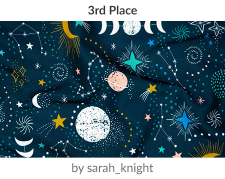 The night sky by sarah_knight is a winner in our Astrology Design Challenge! | Spoonflower Blog
