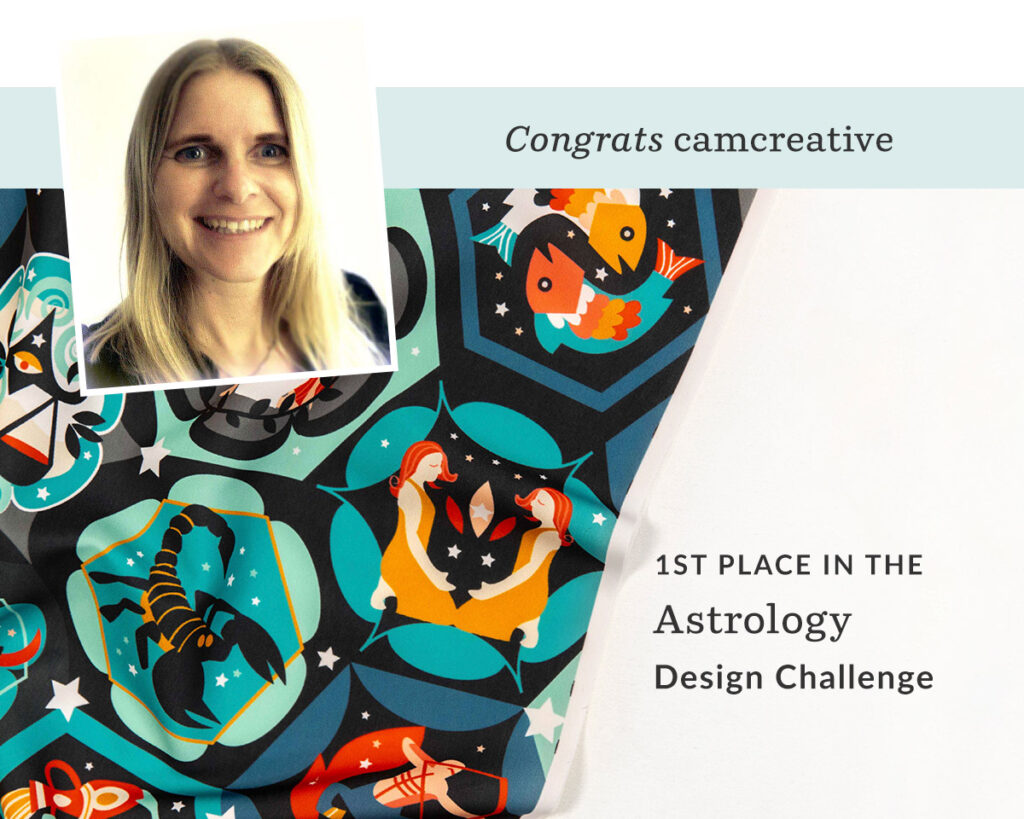 Hexagon zodiacs by camcreative is the grand prize winner in our Astrology Design Challenge! | Spoonflower Blog