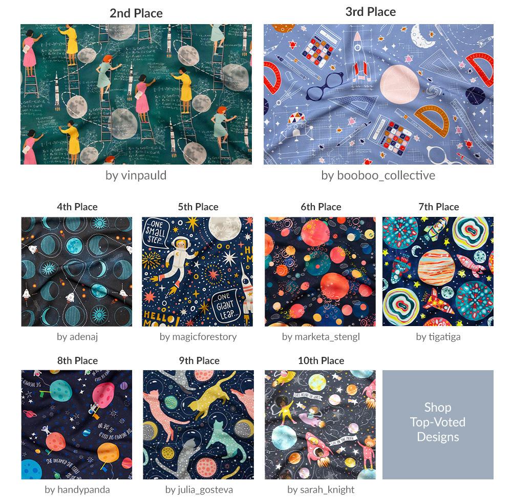 Shop the top Moon Landing Design Challenge Winners |  Spoonflower Blog