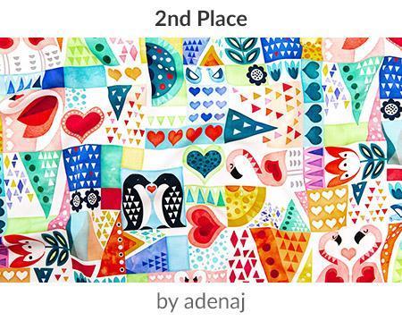 Love Birds by adenajis a winner in our Be My Valentine Design Challenge! | Spoonflower Blog