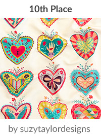 folk hearts by suzytaylordesigns is a winner in our Be My Valentine Design Challenge! | Spoonflower Blog