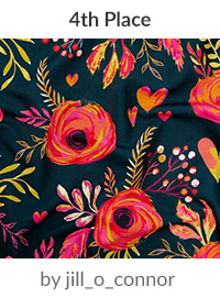 valentine flowers by jill_o_connor is a winner in our Be My Valentine Design Challenge! | Spoonflower Blog