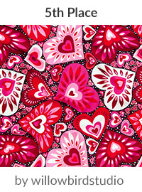 hearts galore by willowbirdstudio is a winner in our Be My Valentine Design Challenge! | Spoonflower Blog