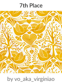 valentine tree of life by vo_aka_virginiao is a winner in our Be My Valentine Design Challenge! | Spoonflower Blog