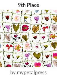 valentine garden by mypetalpress is a winner in our Be My Valentine Design Challenge! | Spoonflower Blog