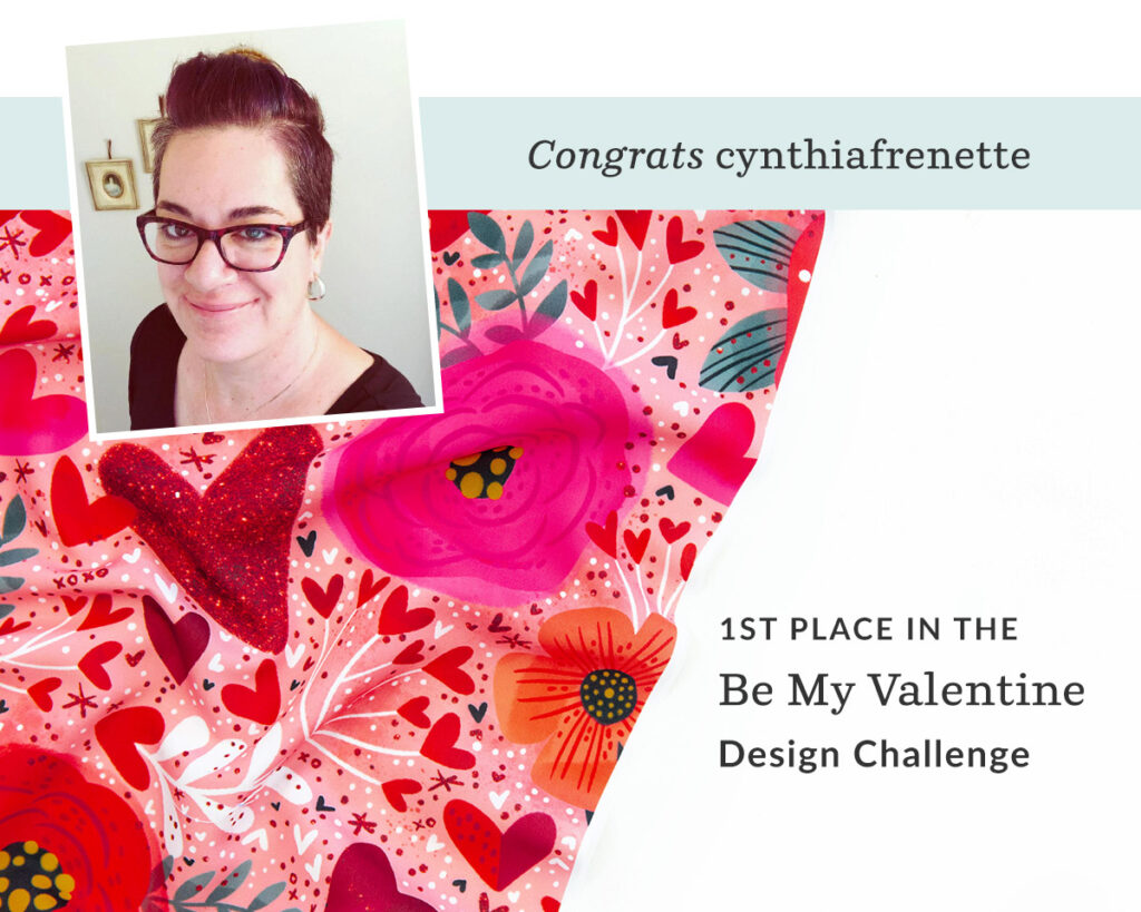 Hearts n Flowers by cynthiafrenette is the Be My Valentine Design Challenge Winner | Spoonflower Blog