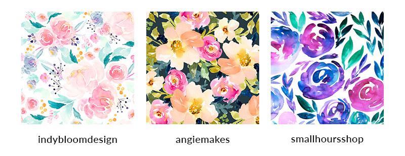 Meet Your Designer Crush: Watercolor Florals | Spoonflower Blog
