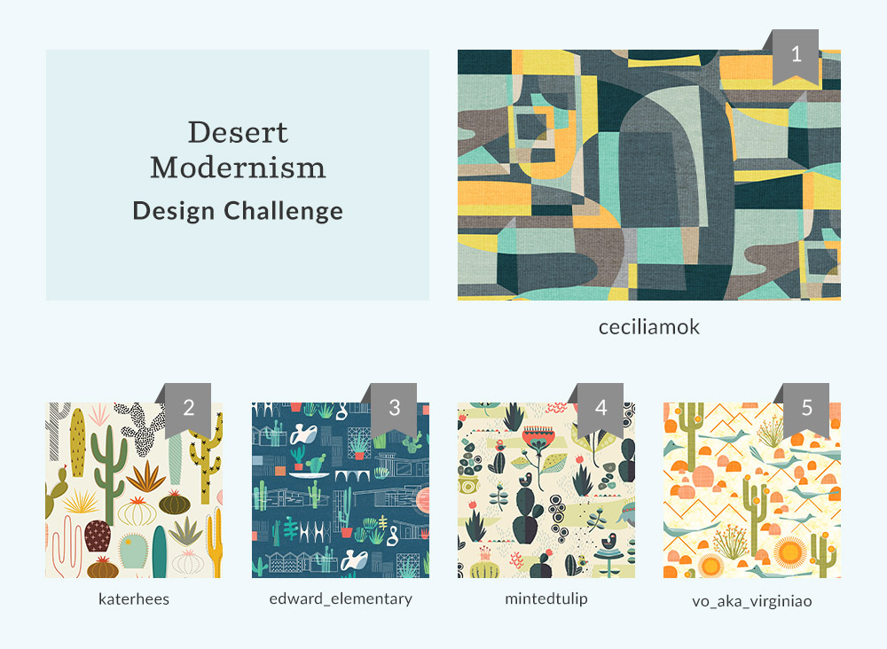 Announcing the Desert Modernism Design Challenge Winners | Spoonflower Blog