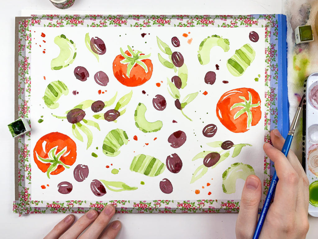 A Recipe for Success: How to Create Repeat-Friendly Artwork with Annie Parsons | Spoonflower Blog