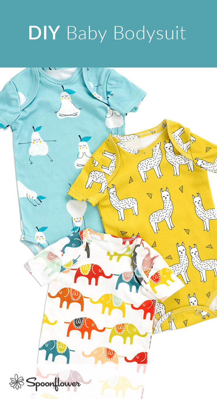 How to Sew an Adorable Baby Onesie! | Spoonflower Blog
