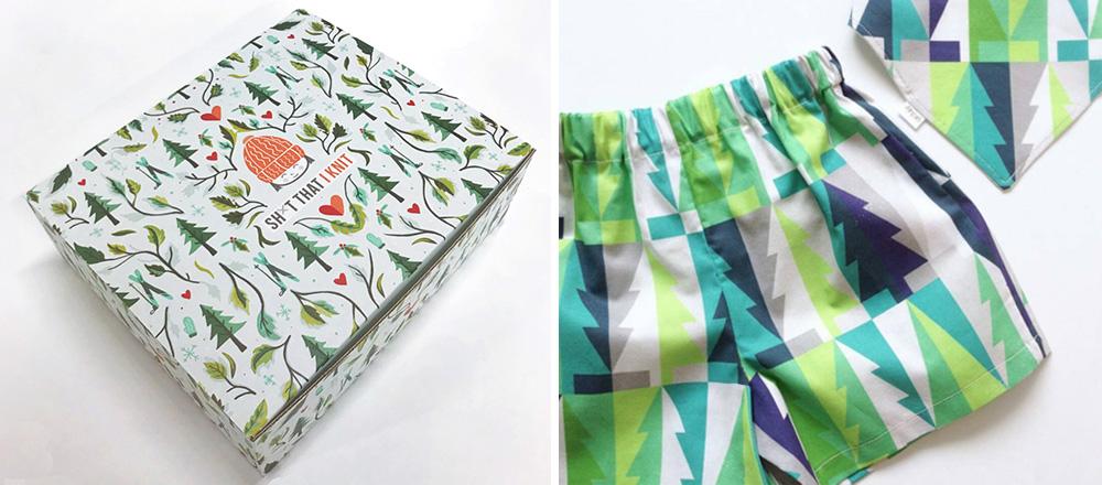 Claires Tannen-Design als Badehose gedruckt bei Spoonflower