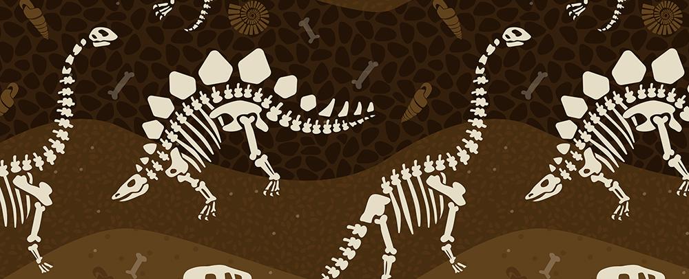Meghans Fossilien-Design bei Spoonflower