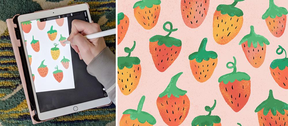 Meghans Erdbeer-Design bei Spoonflower