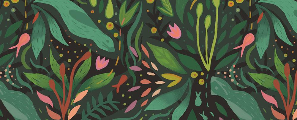 Claires Botanik-Design bei Spoonflower
