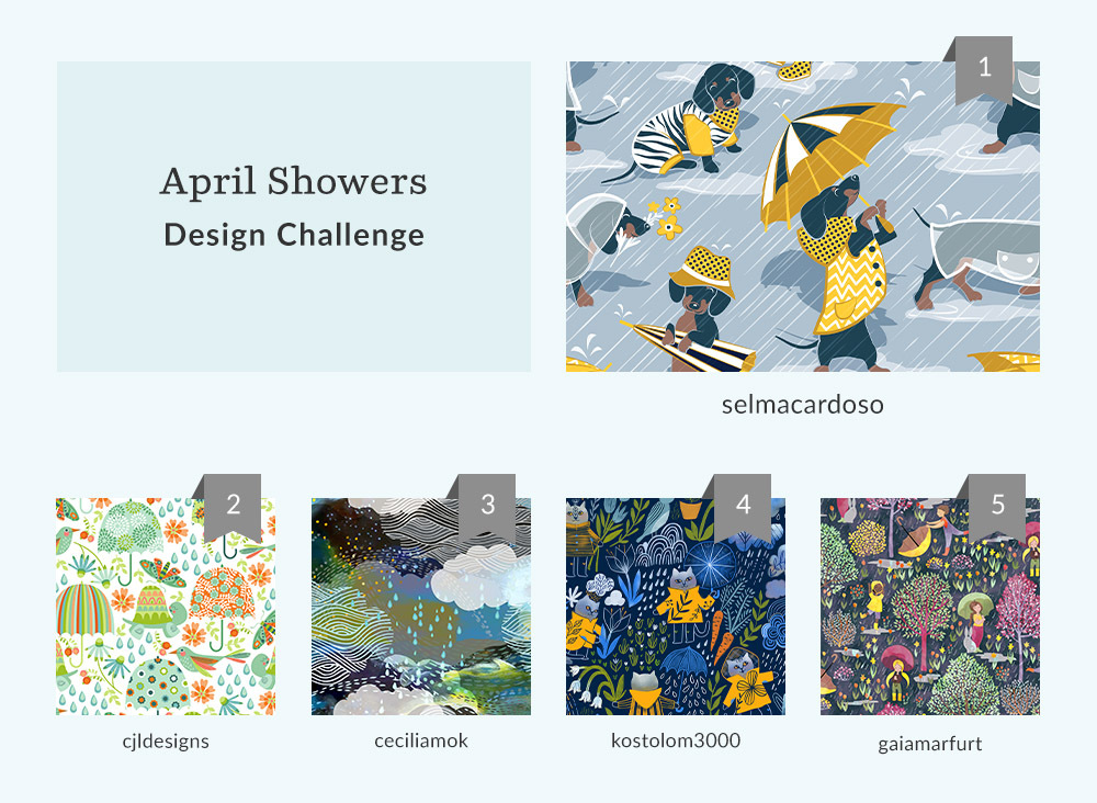 See Where You Ranked in the April Showers Design Challenge  | Spoonflower Blog