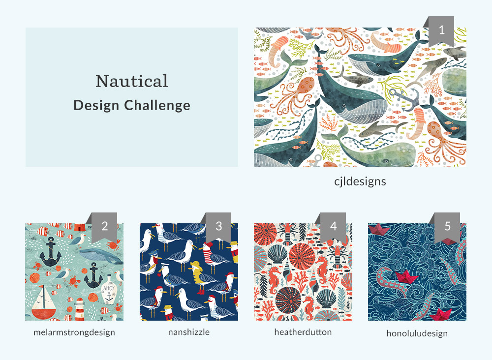 See How Your Placed in the Nautical Design Challenge | Spoonflower Blog