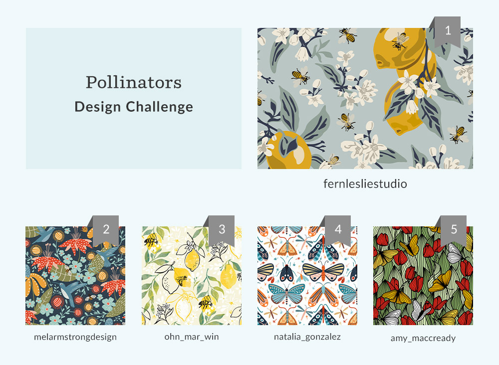 See Where You Ranked in the Pollinators Design Challenge | Spoonflower Blog