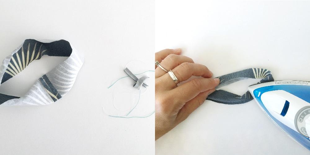 Stoffband herstellen für Unterwäsche