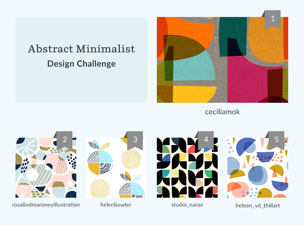 See Where You Ranked in the Abstract Minimalist Design Challenge | Spoonflower Blog