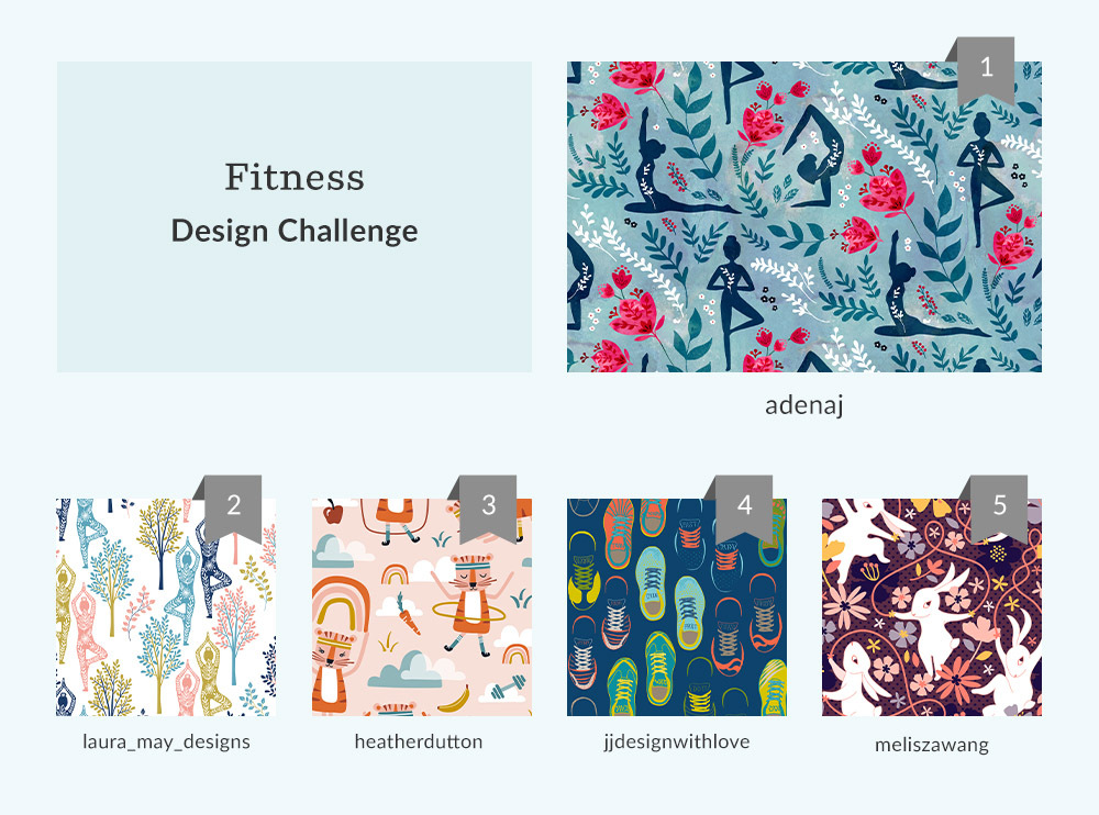 See Where You Ranked in the Fitness Design Challenge | Spoonflower Blog
