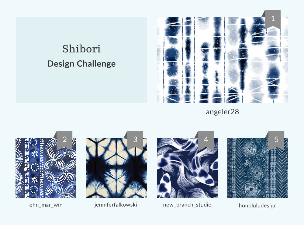 See Where You Ranked in the Shibori Design Challenge | Spoonflower Blog