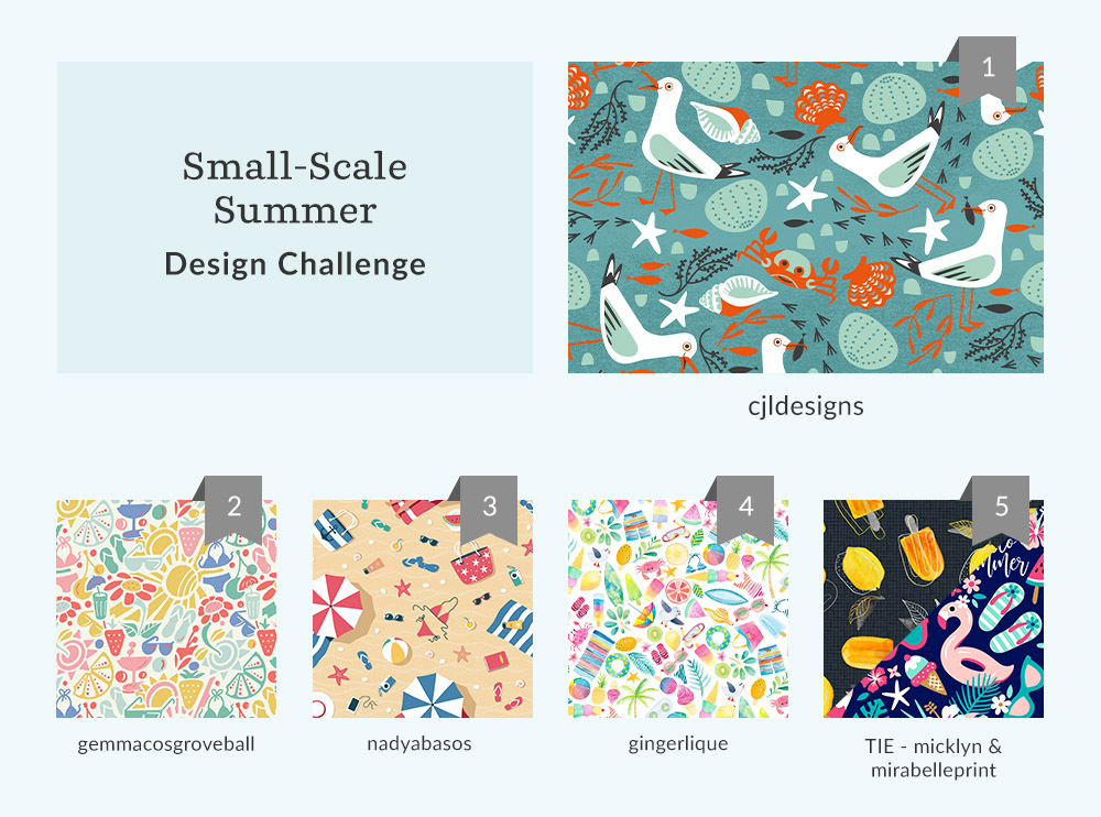 See Where You Ranked in the Small-Scale Summer Design Challenge | Spoonflower Blog