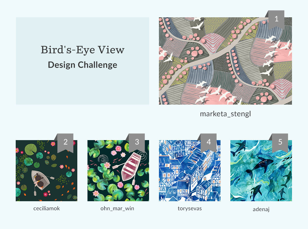 See Where You Ranked in the Bird's-Eye View Design Challenge | Spoonflower Blog